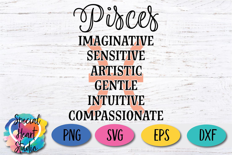 Pisces Zodiac SVG example image 2
