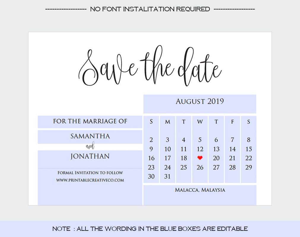 Save The Date example image 4