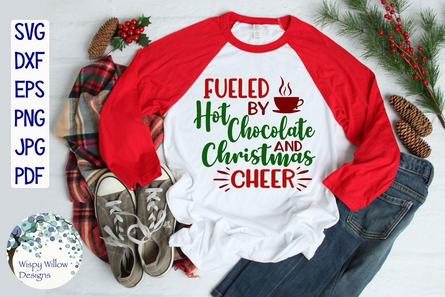 Fueled By Hot Chocolate and Christmas Cheer | Christmas SVG example image 2