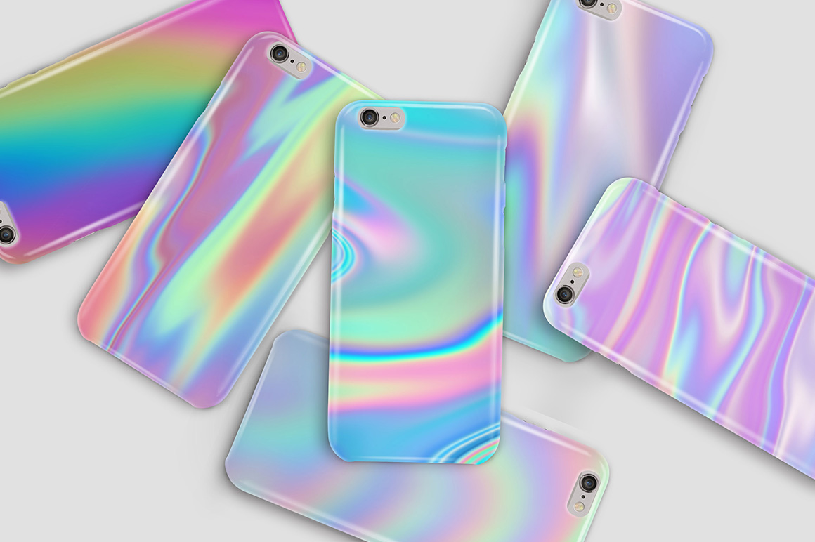 Iridescent Abstract Backgrounds example image 6