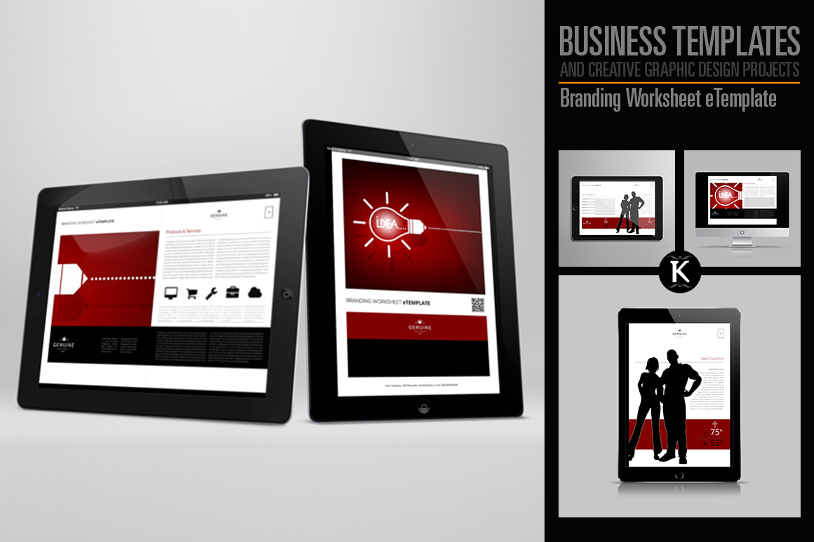 Branding Worksheet eTemplate example image 1
