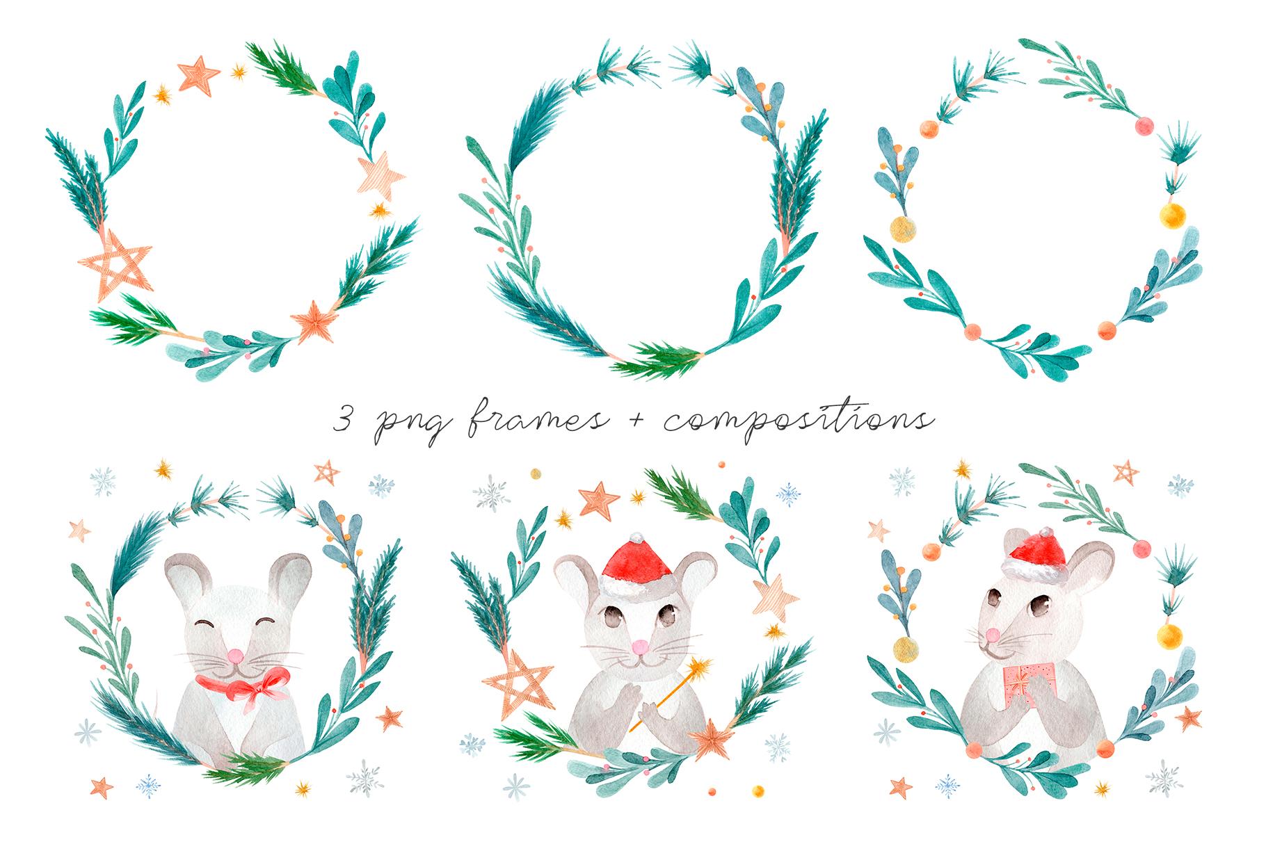 Christmas Rats. Symbol 2020 New Year example image 7