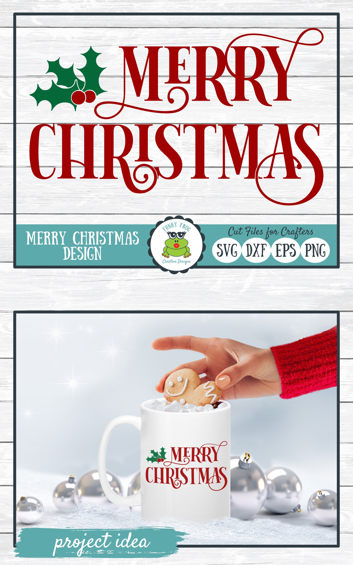 Merry Christmas, Winter Holiday SVG Cut File example image 4