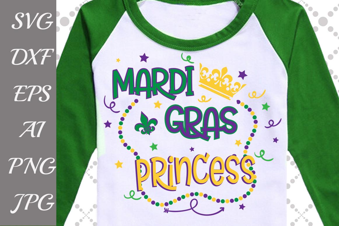 Mardi Gras Princess Svg example image 1