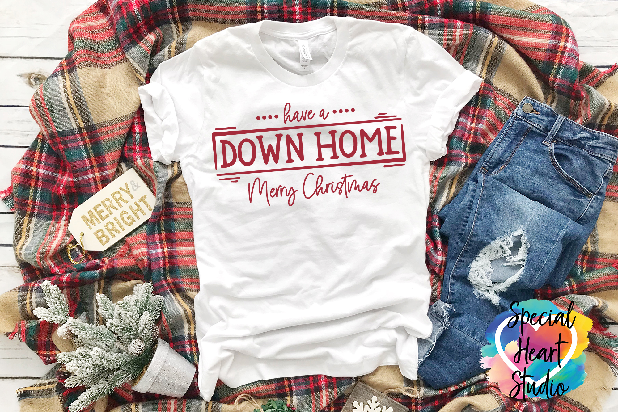 Down Home Christmas - A Christmas SVG Cut File example image 1