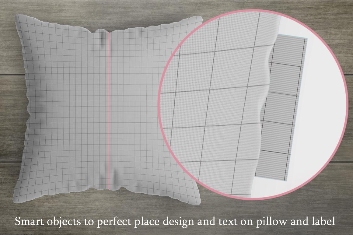 Square pillow mockup. Product mockup. example image 2