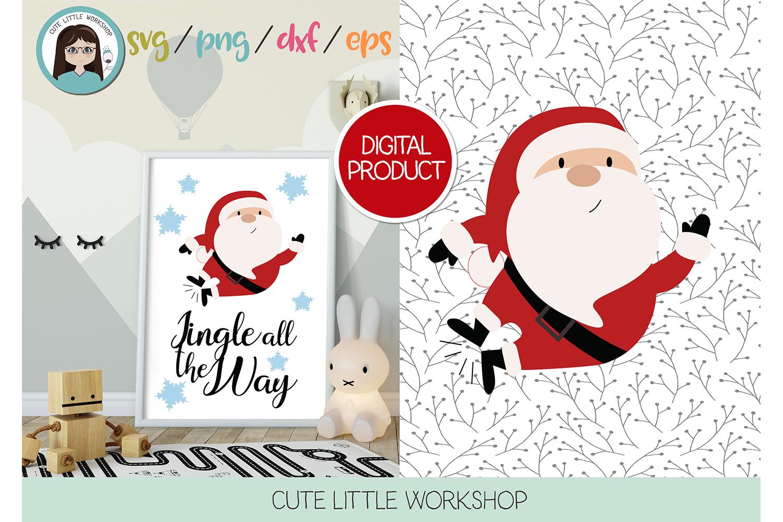Santa Claus Jumping svg, dxf, png, eps example image 3