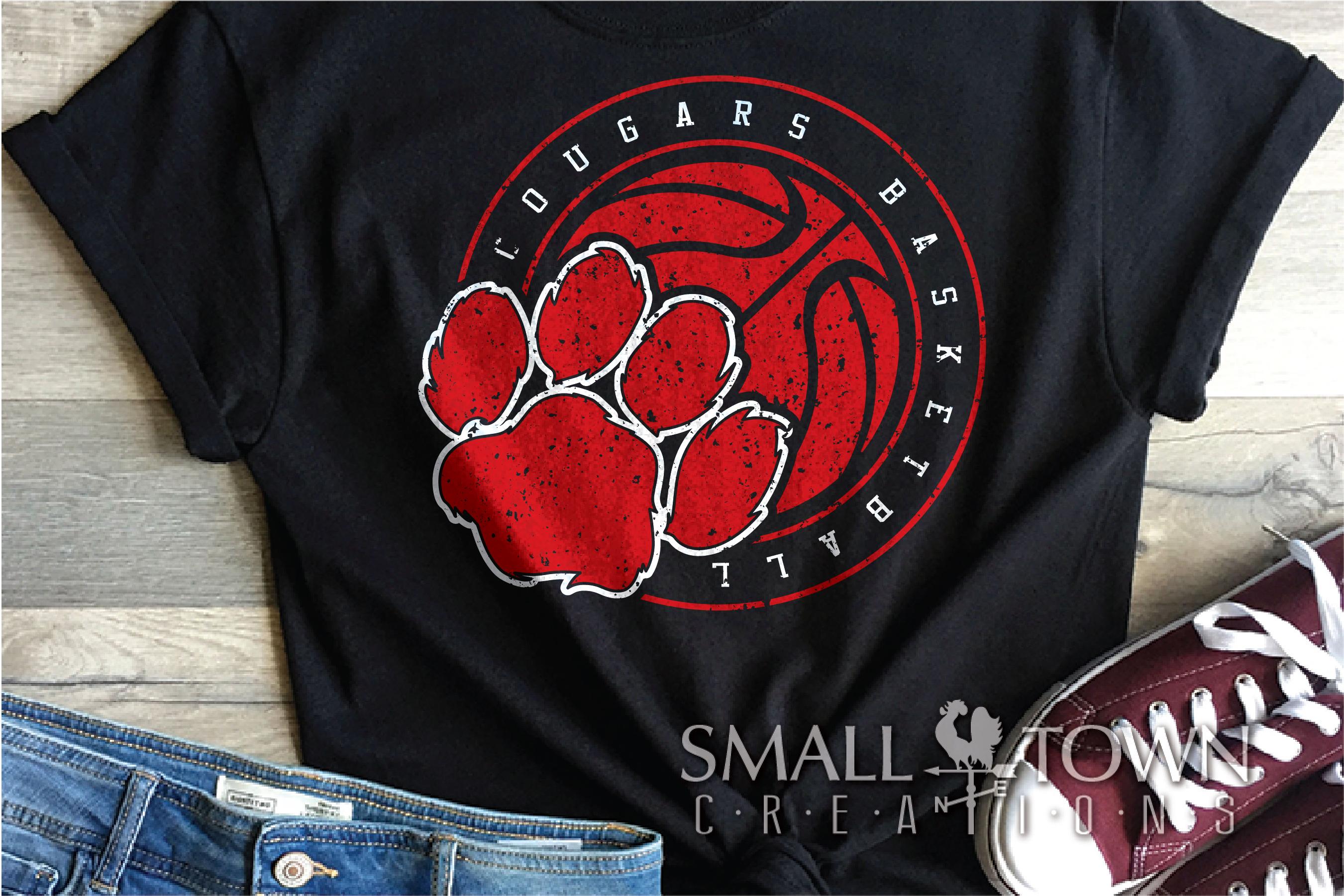 Cougar basketball, Cougars mascot, PRINT, CUT, DESIGN example image 6