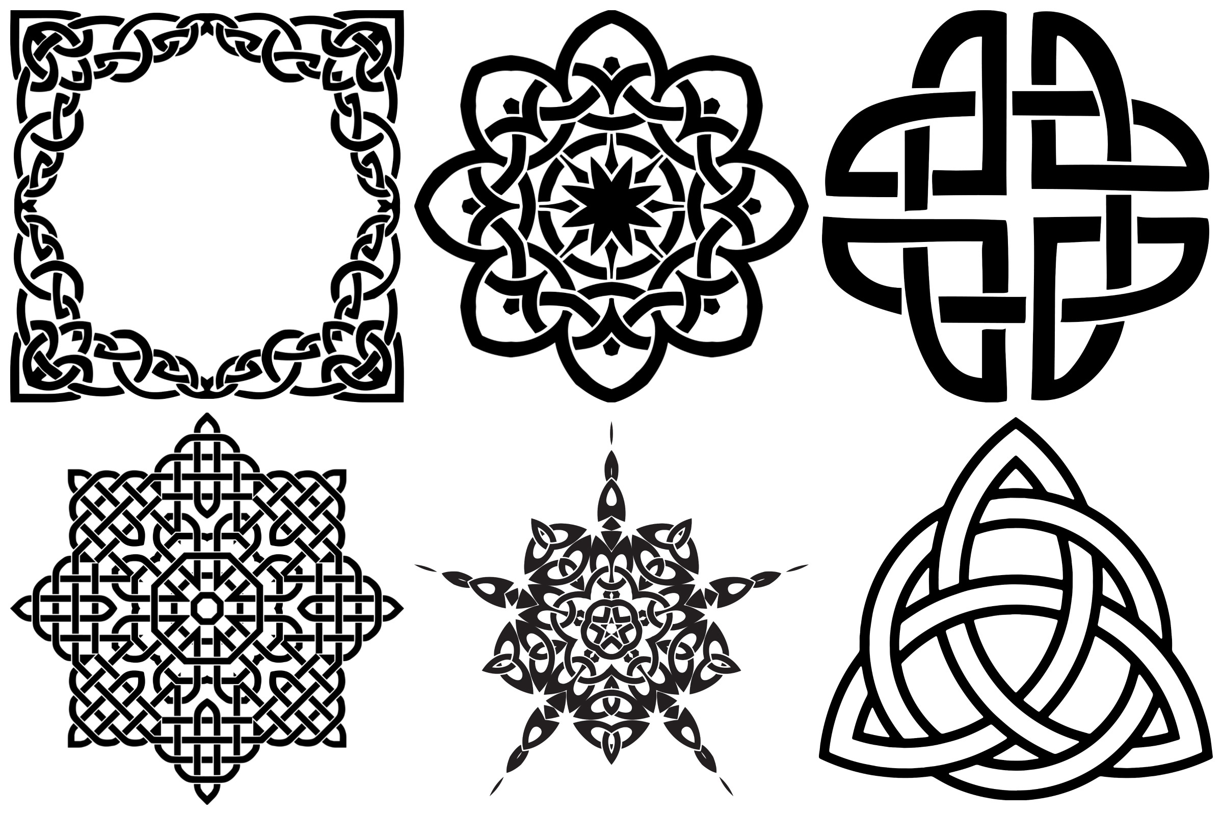 Celtic Symbols, Knots & Crosses AI EPS PNG, Irish Clip Art example image 4