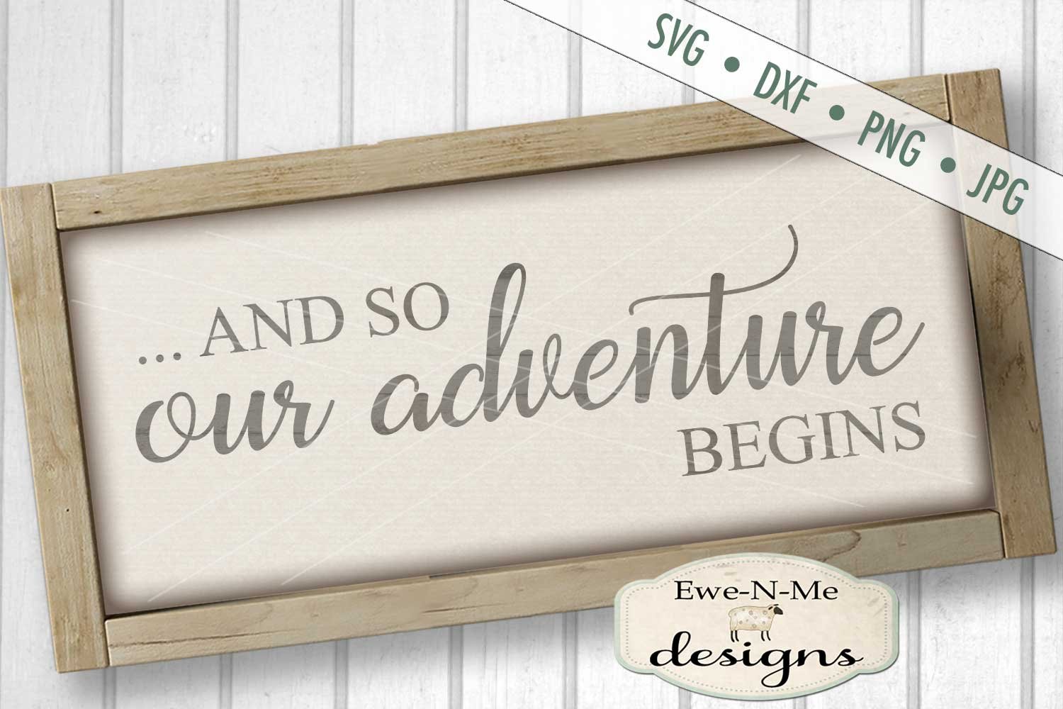 And So Our Adventure Begins Wedding SVG DXF Cut File example image 1