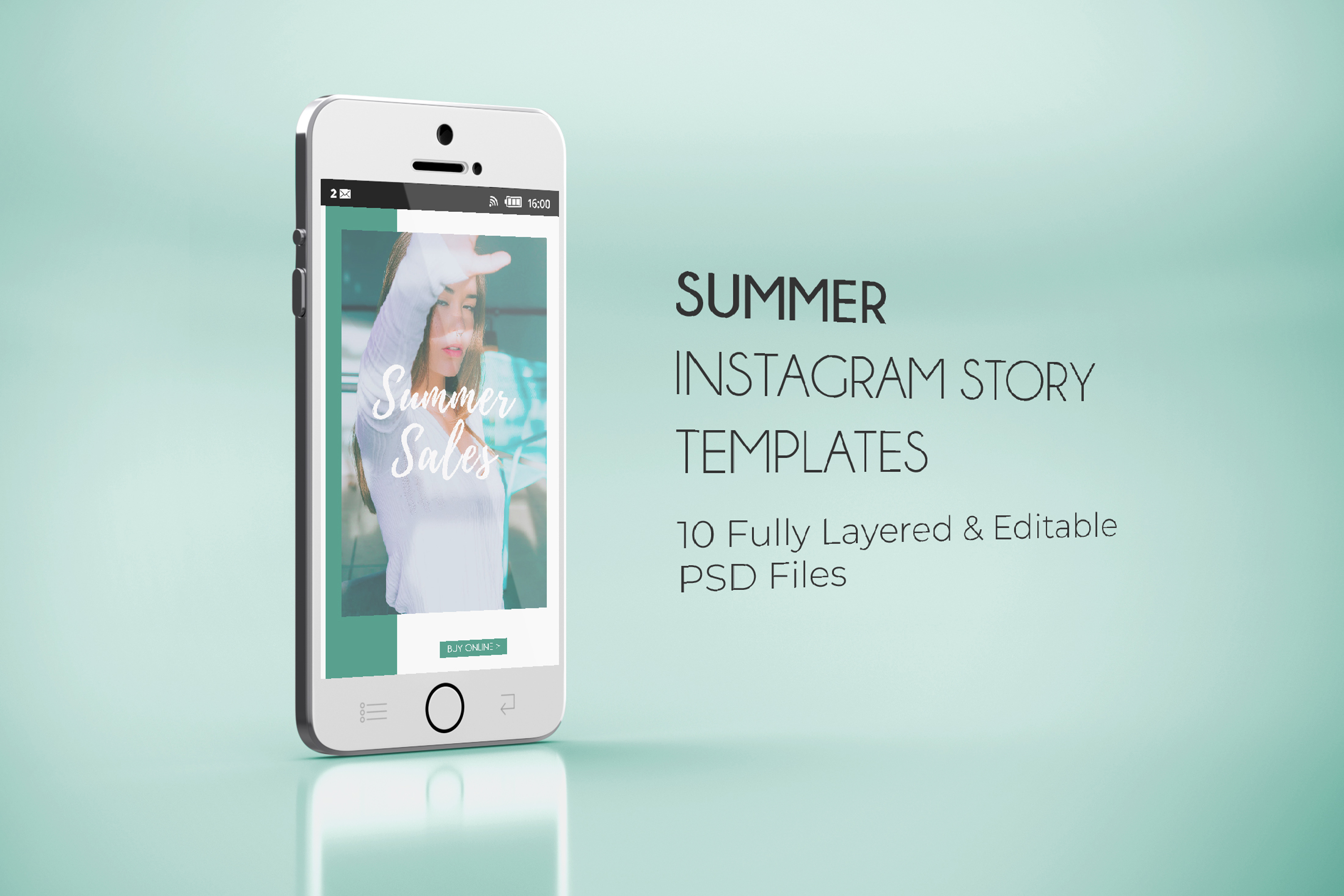 10 Summer Fashion Sales Insta-Story PSD Templates example image 8