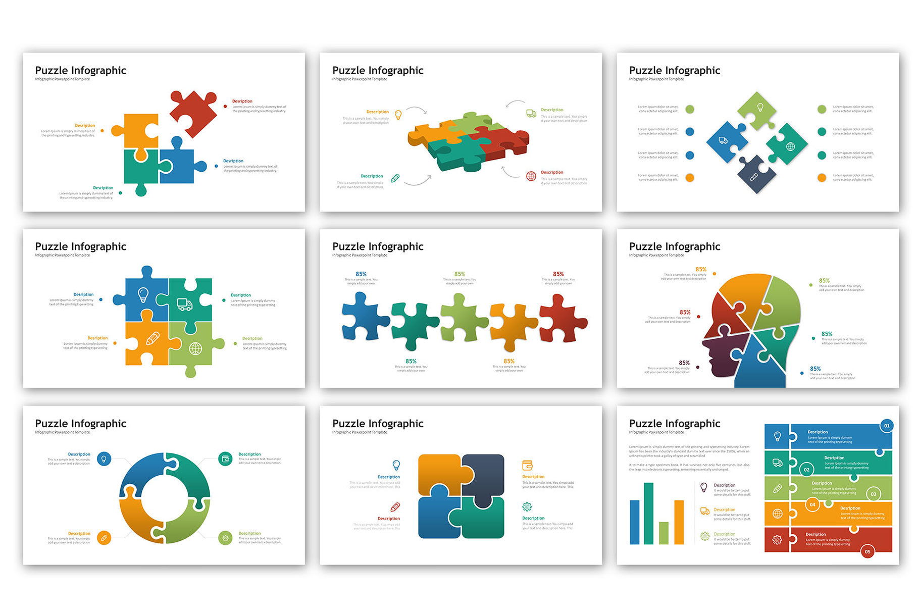 Puzzle Presentation - Infographic Template example image 3