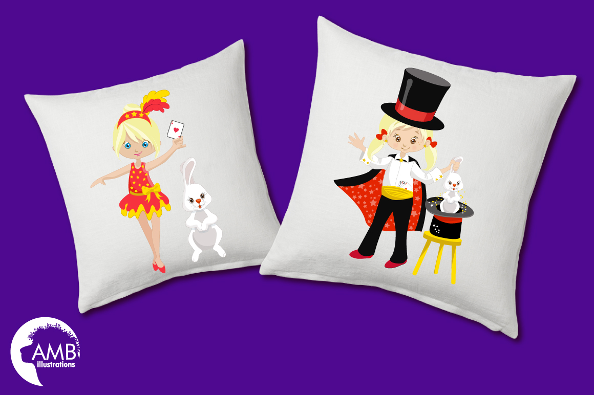 Girl's Magician Party clipart, graphics, illustrations AMB-1192 example image 4