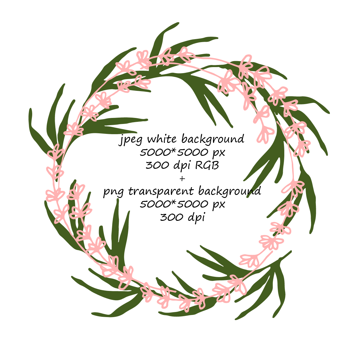 8 Lavender and Leaves Wreaths  example image 4