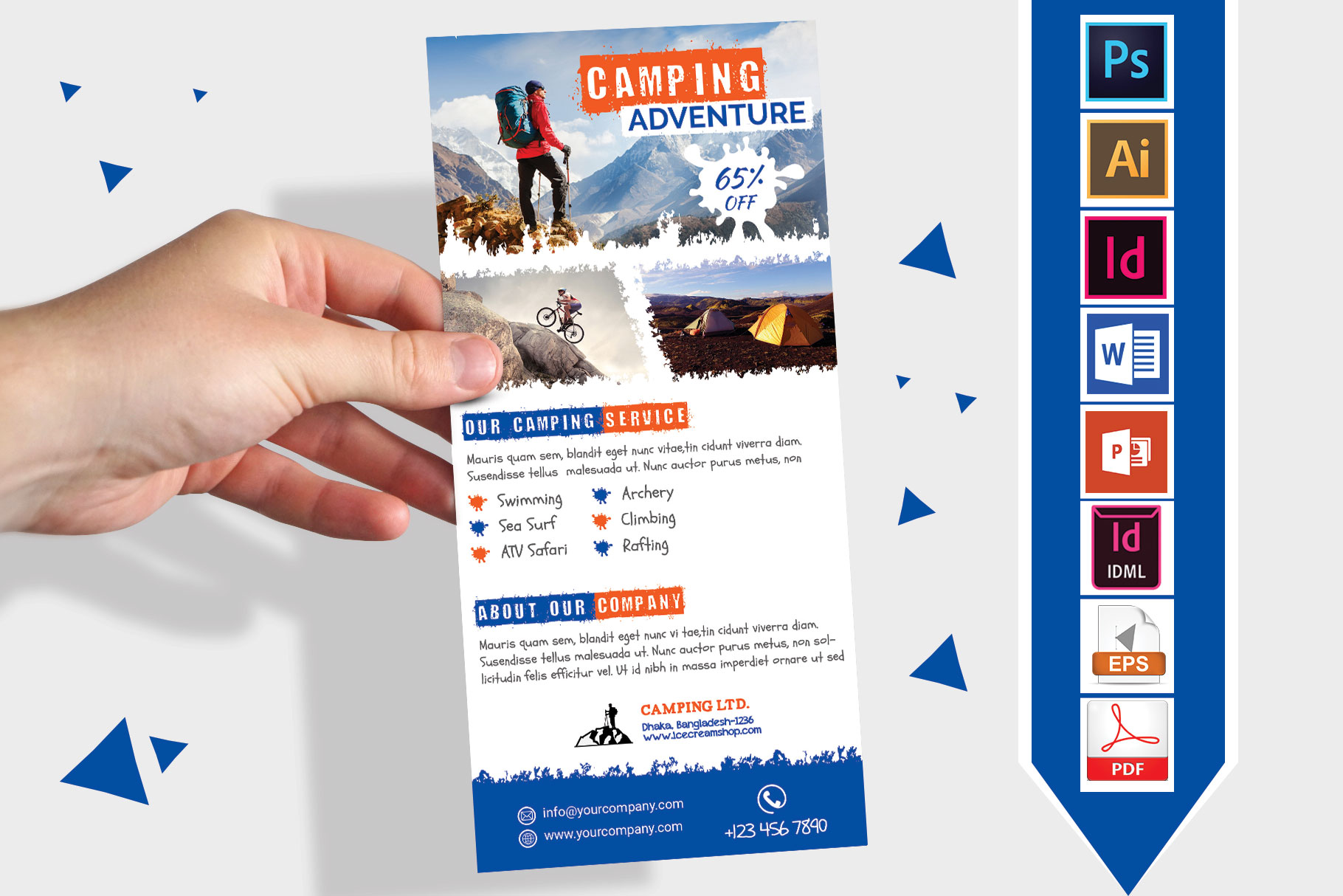Rack Card | Camping Adventure DL Flyer Vol-02 example image 1