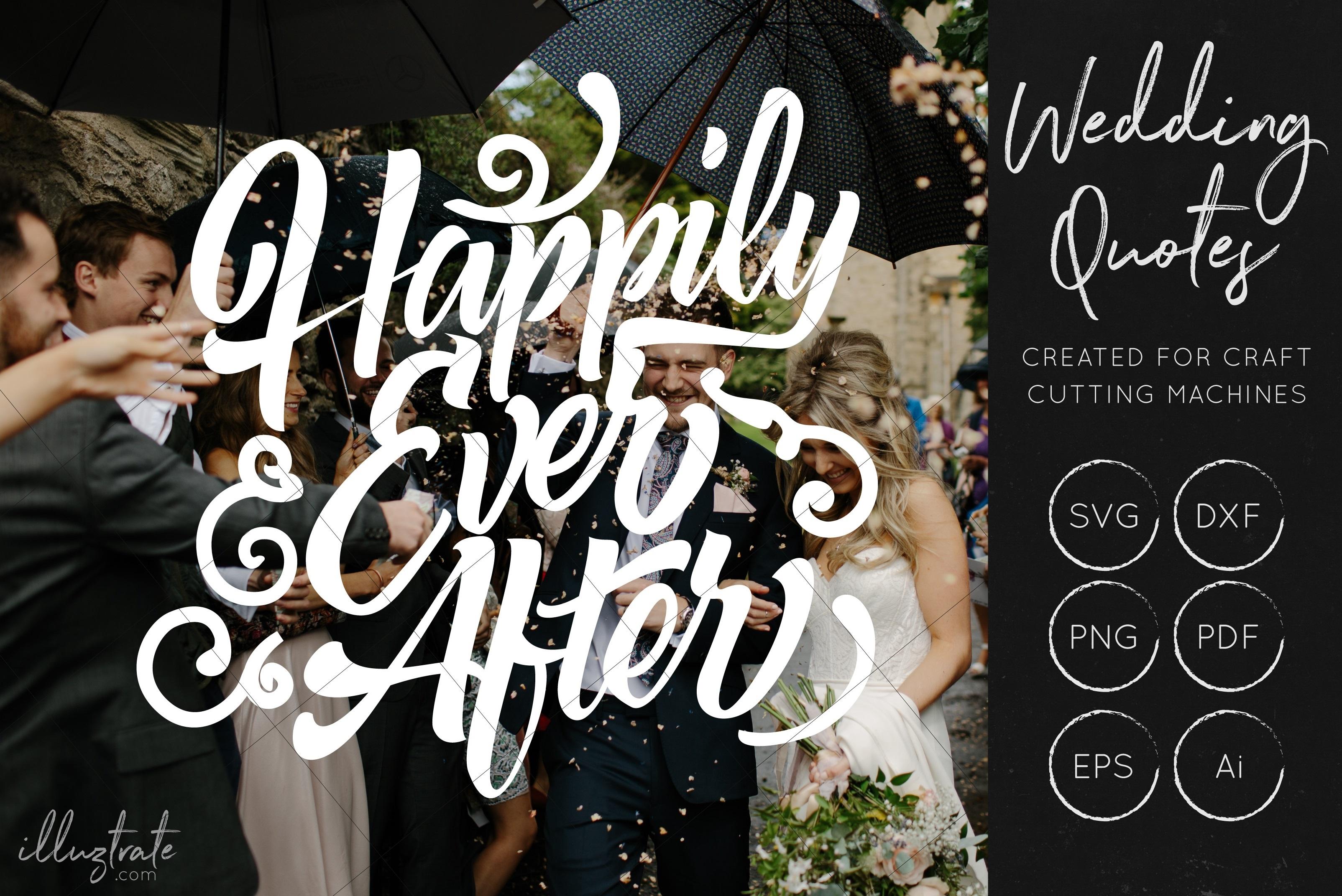 Wedding SVG Cut Files Bundle - Wedding Quotes - Wedding SVG example image 4