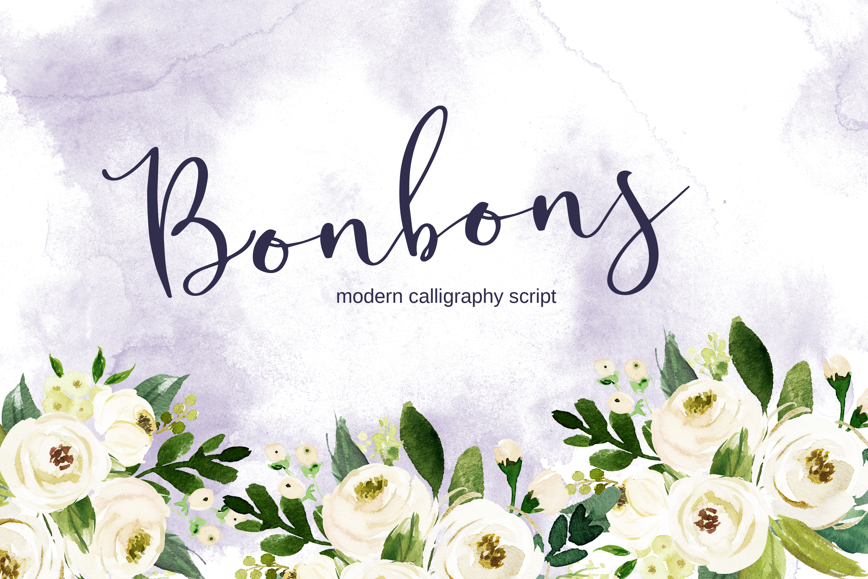 Bonbons - modern calligraphy script font with gold and silve example image 1