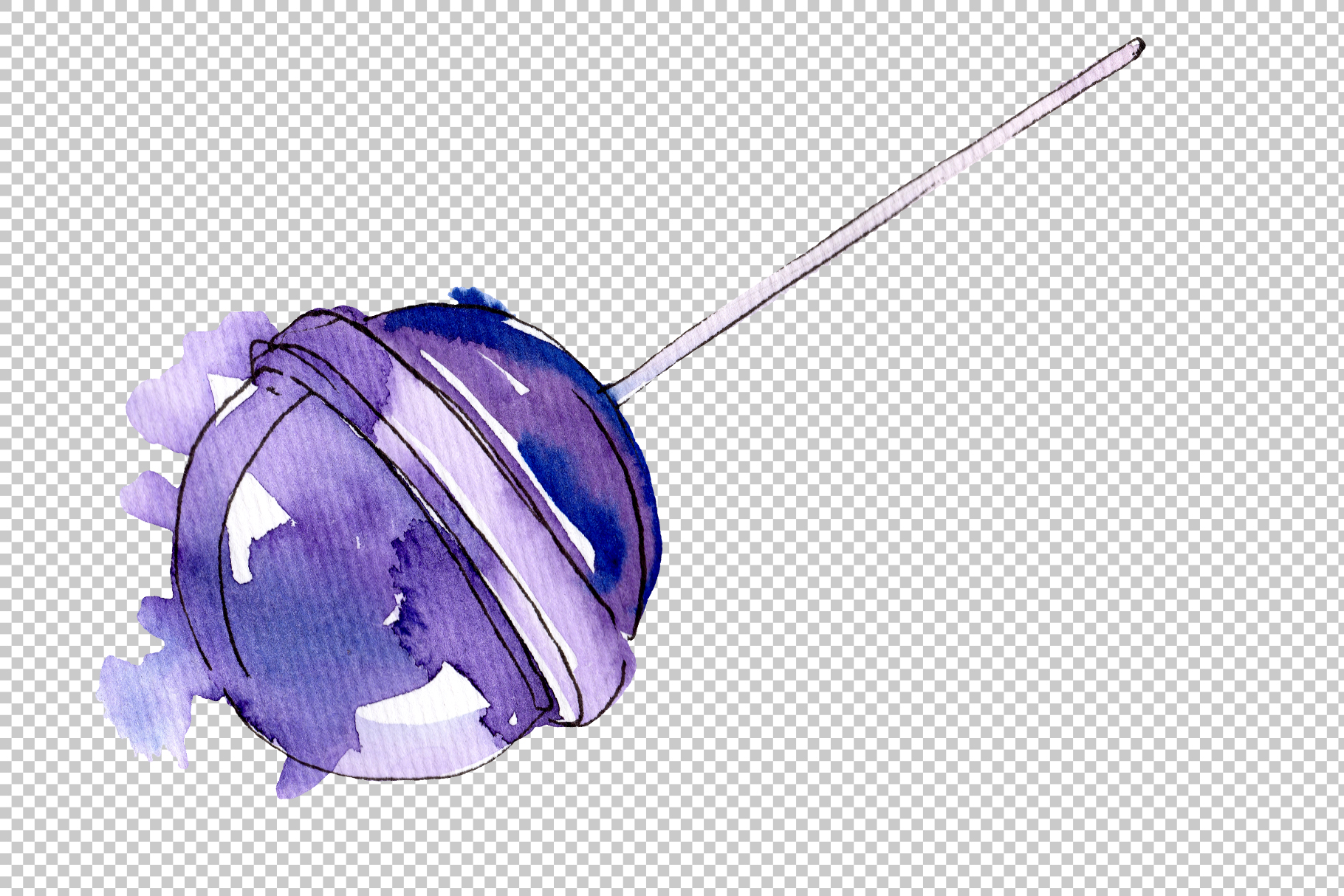 Dessert sweets Watercolor png example image 9
