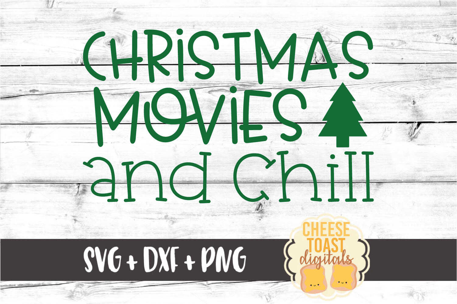 Christmas Movies and Chill - Holiday SVG PNG DXF Cut Files example image 2