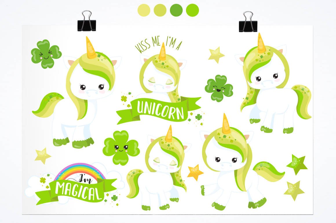 Unicorn Clover graphic and illustrations example image 3