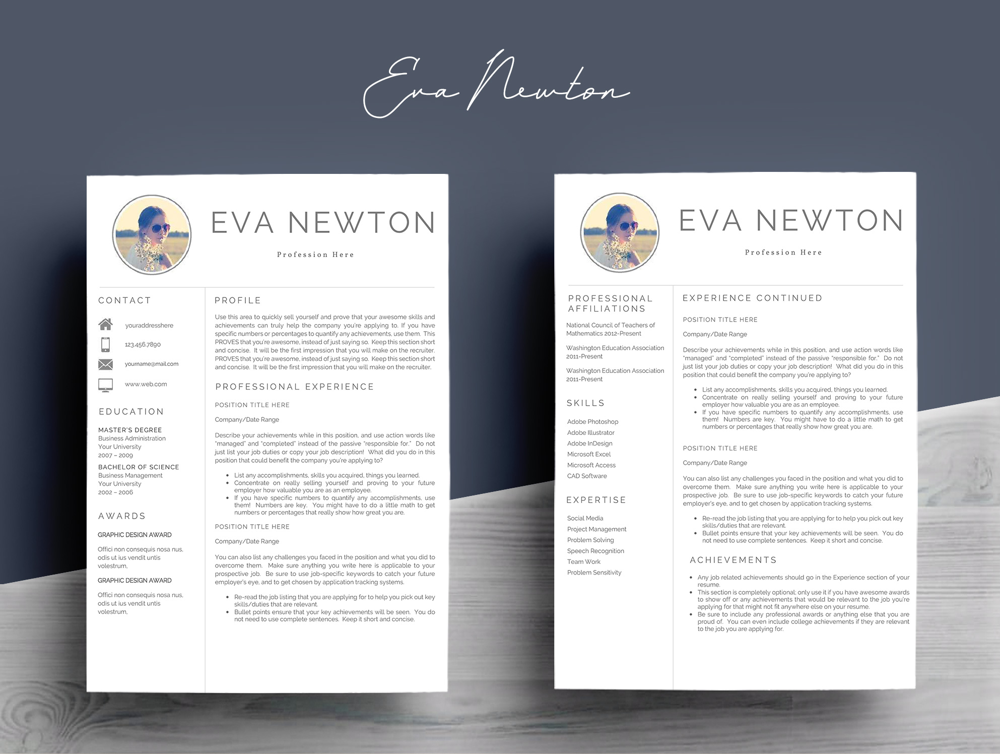 Resume Template 4 Pages example image 4