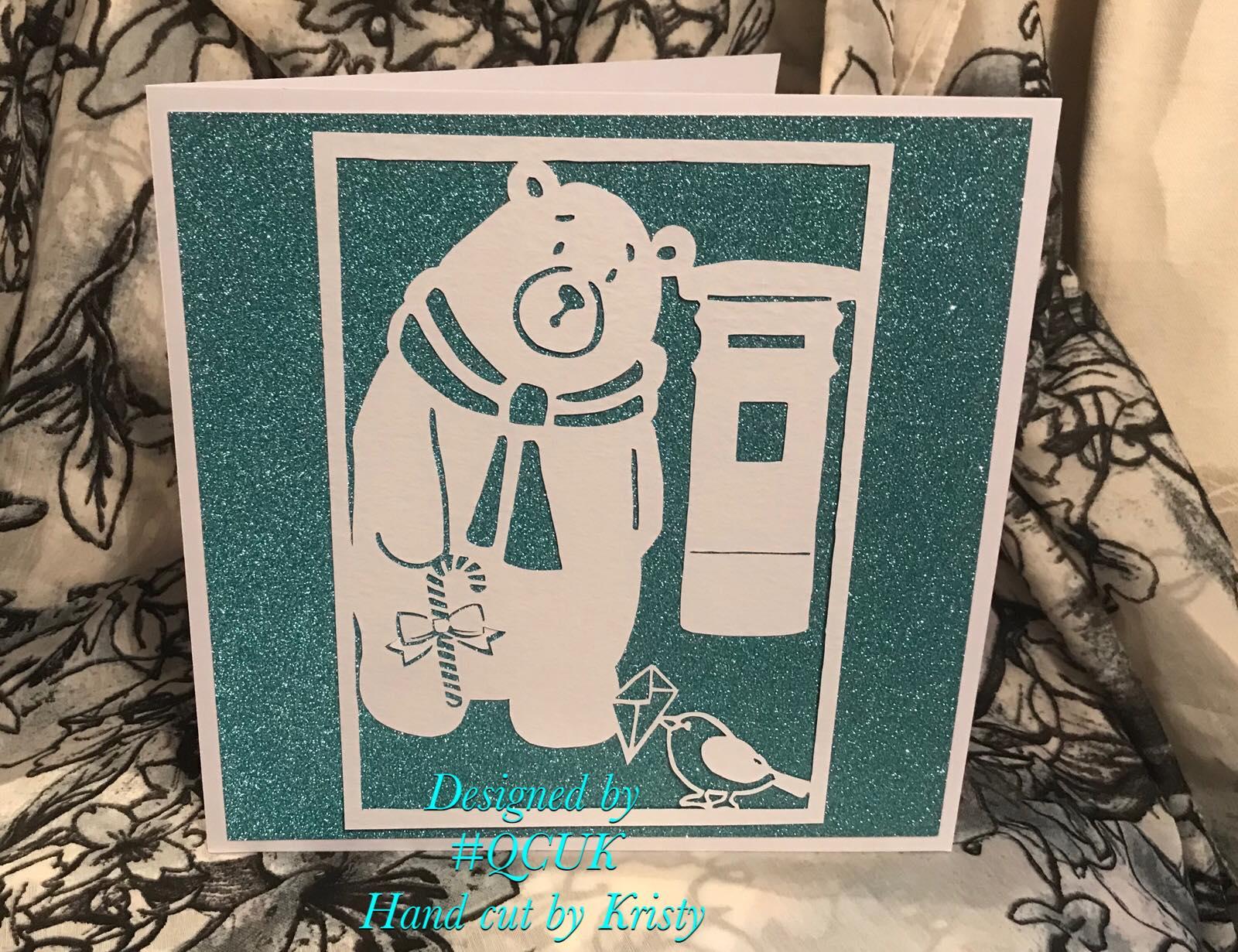 Bird and Bear's Xmas Collection x 8 papercutting templates example image 4