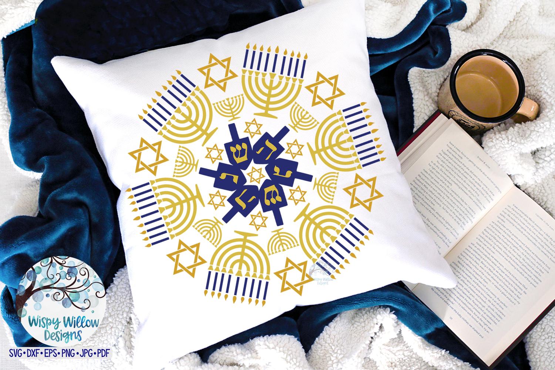 Hanukkah Mandala SVG | Menorah Mandala SVG Cut File example image 2
