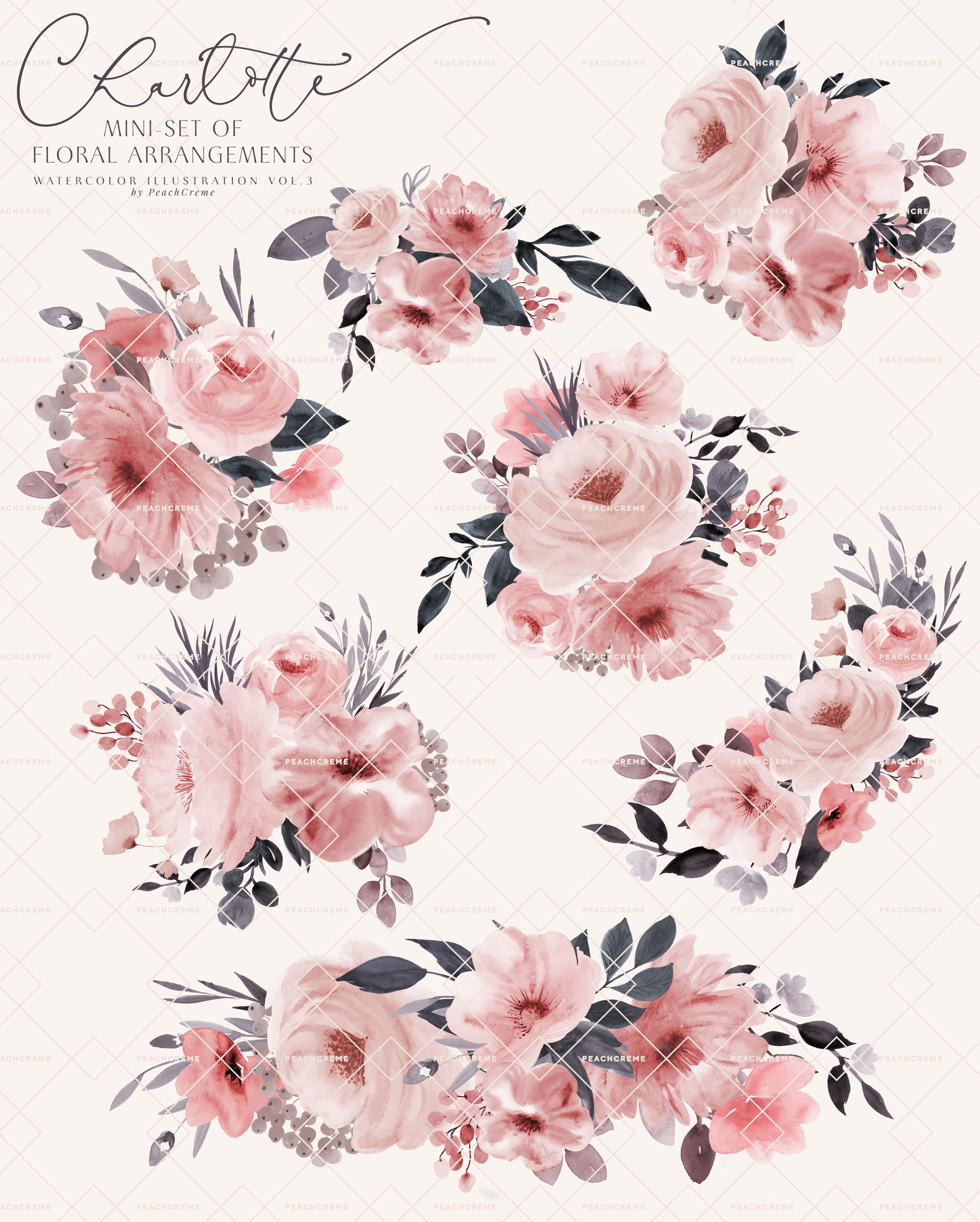 Charlotte // Mini Set of Floral Arrangements example image 3
