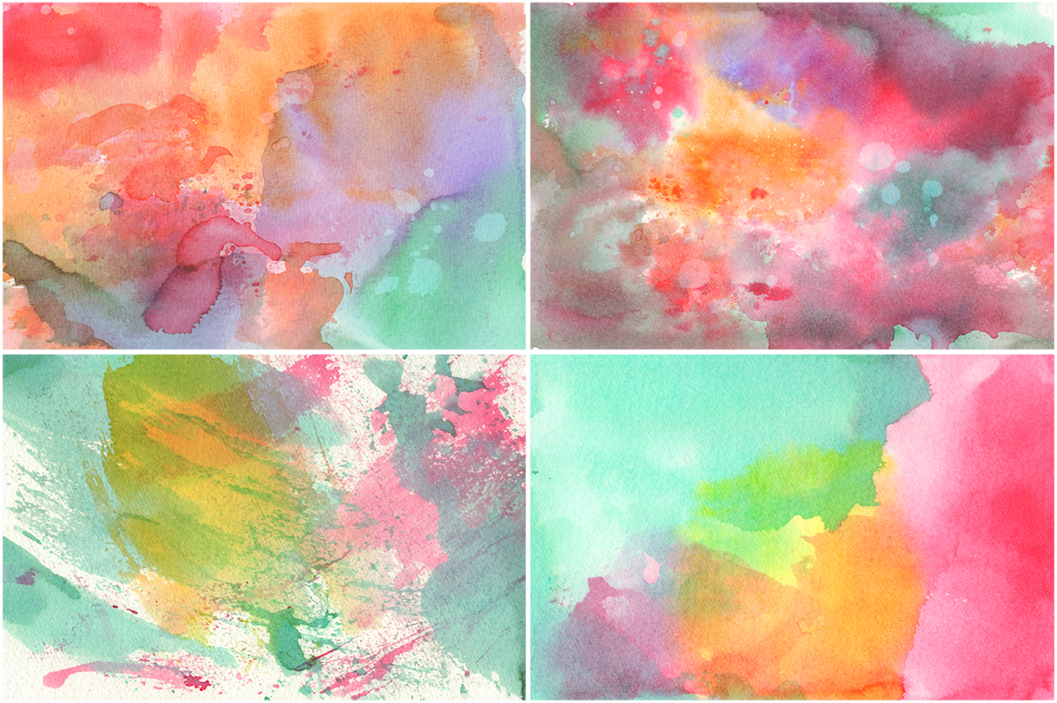 20 Watercolor Backgrounds 01 example image 2