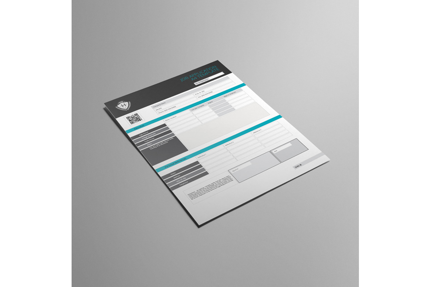 Job Application A4 Template example image 4