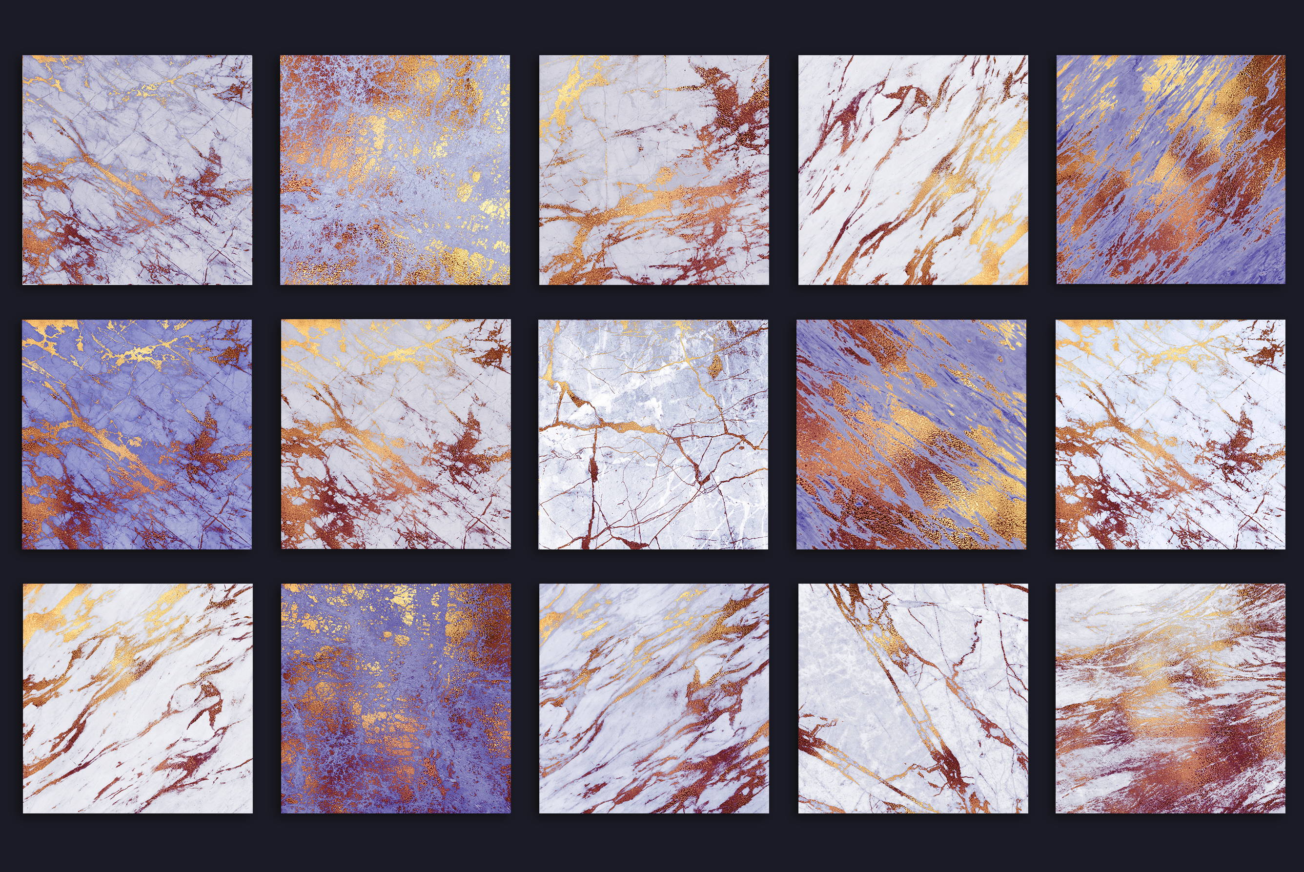 Purple and Gold Marble Textures example image 4