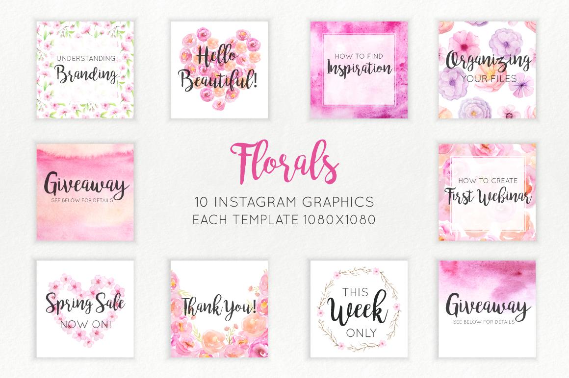 Florals Social Media Graphics example image 3