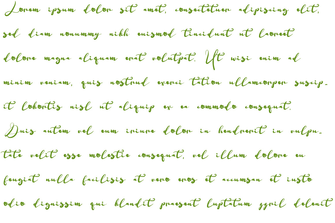 Shuntip Jan Script Font example image 3