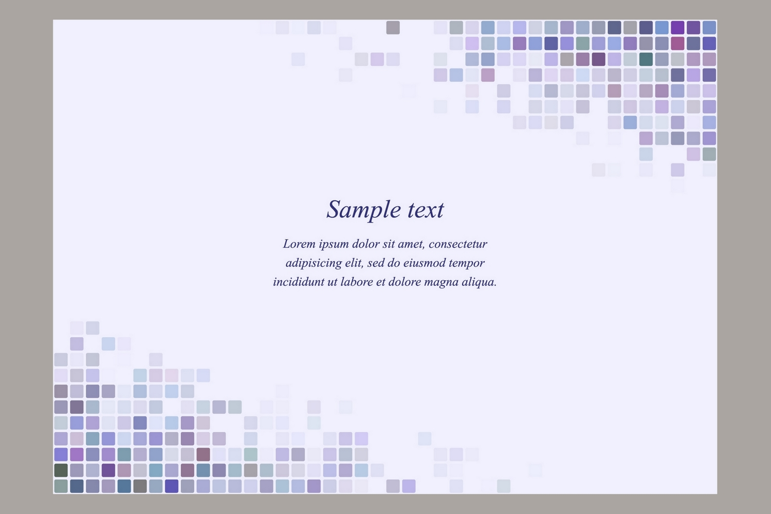 40 square mosaic page templates (AI, EPS, JPG 5000x5000) example image 3
