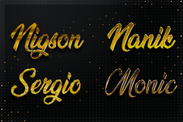 12 Gold Clean Text Effect Styles example image 4