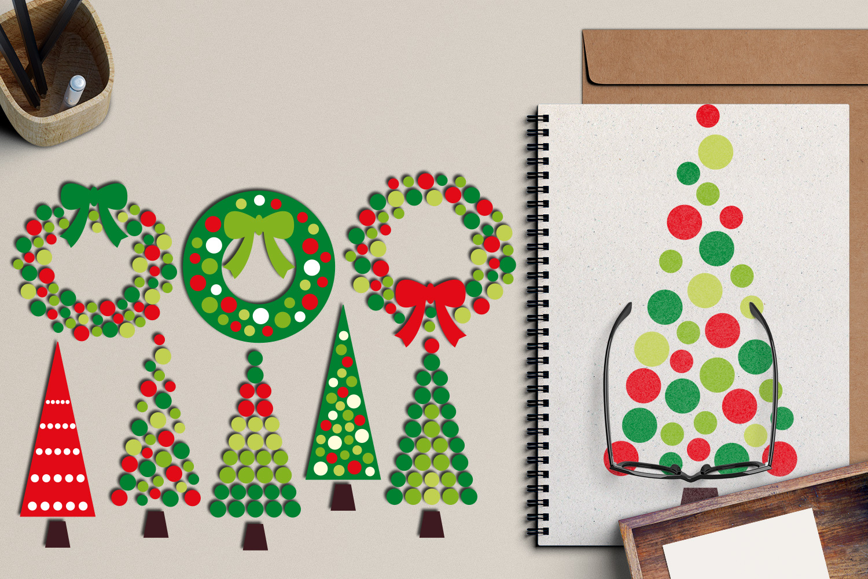 Christmas Wreath and Tree Polka Dot example image 4