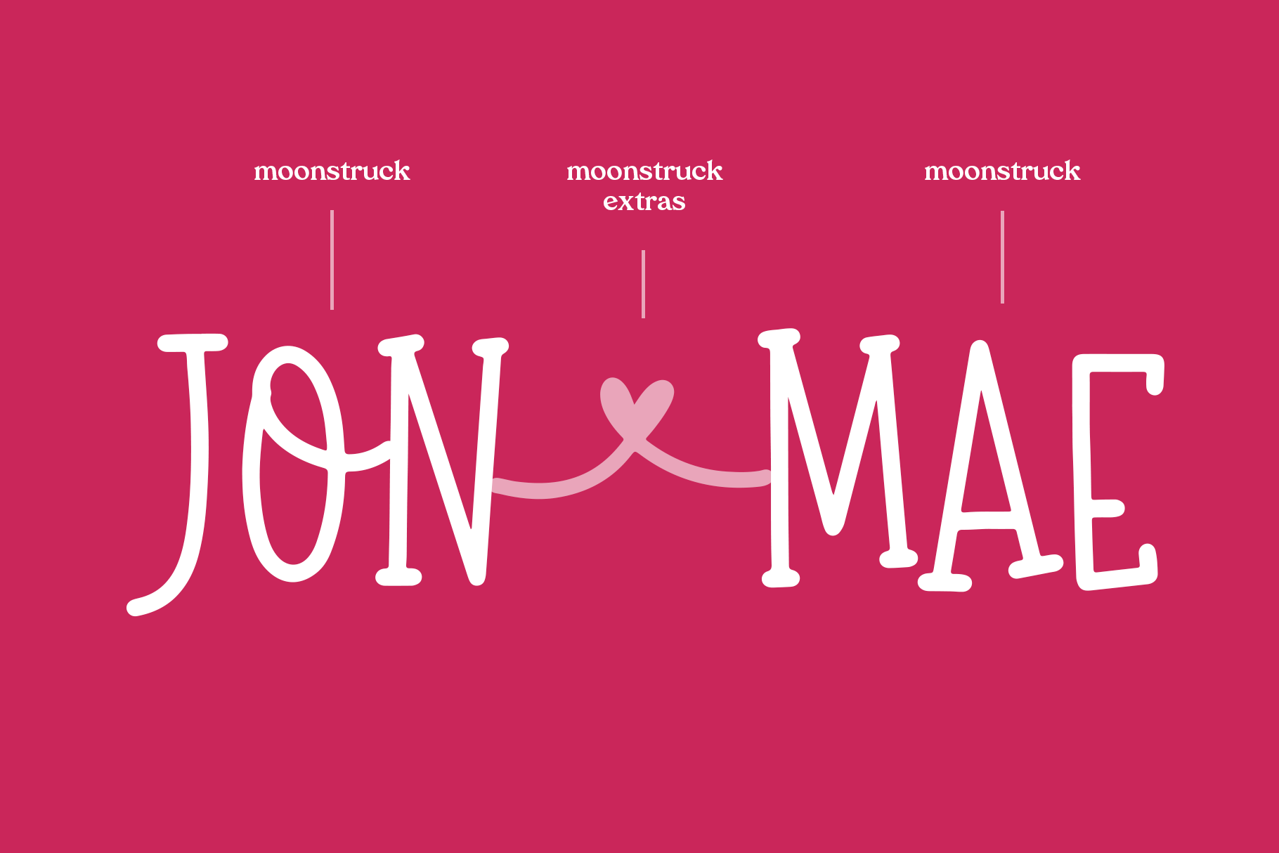 Moonstruck - A Fun Handwritten Font with Extras example image 2