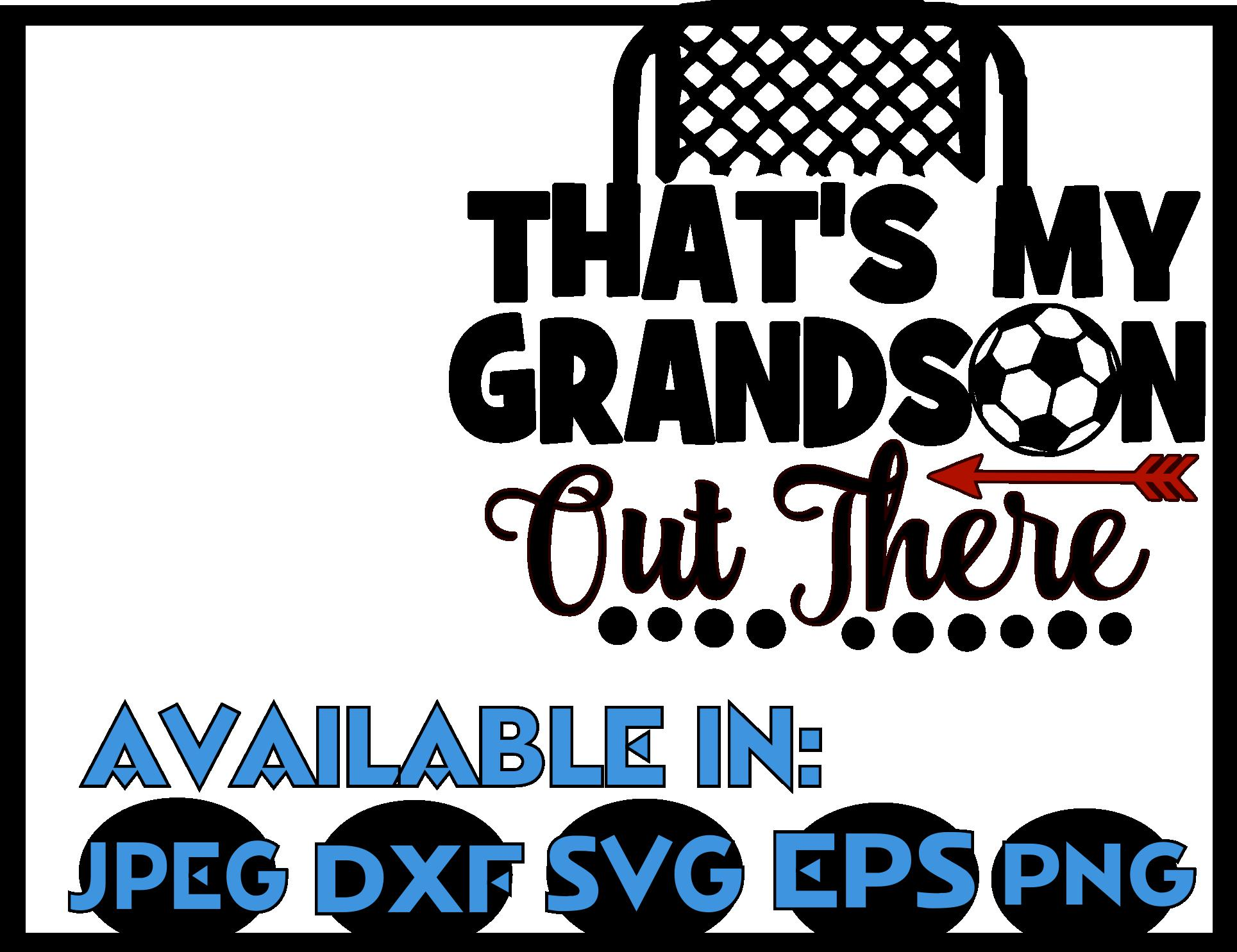 Soccer SVG DXF JPEG Silhouette Cameo Cricut Grandson field example image 3