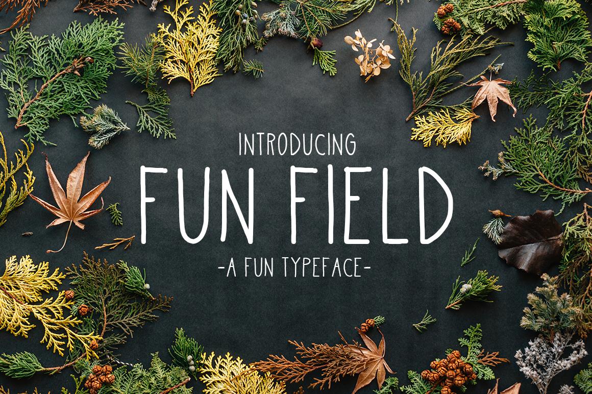 Fun Field a Fun typeface example image 1