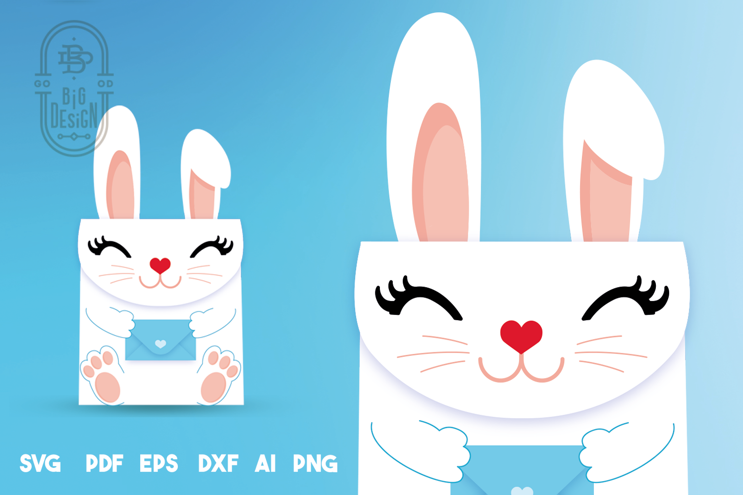 Box SVG File - Bunny Box SVG Template, Easter SVG, Gift Box example image 3