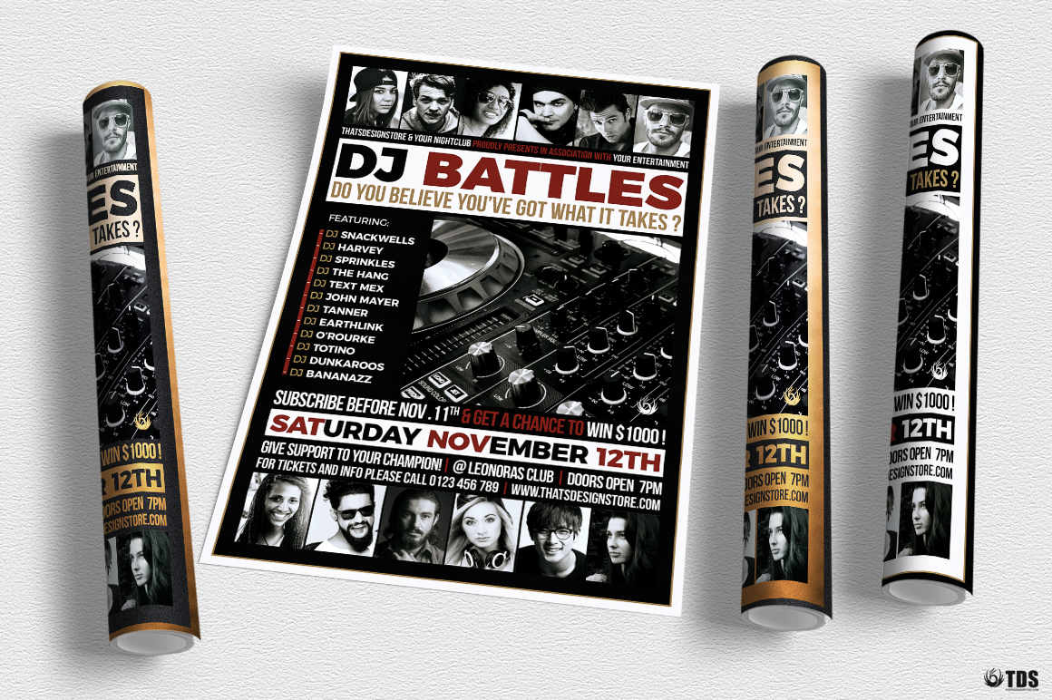 DJ Battle Flyer Template V4 example image 4