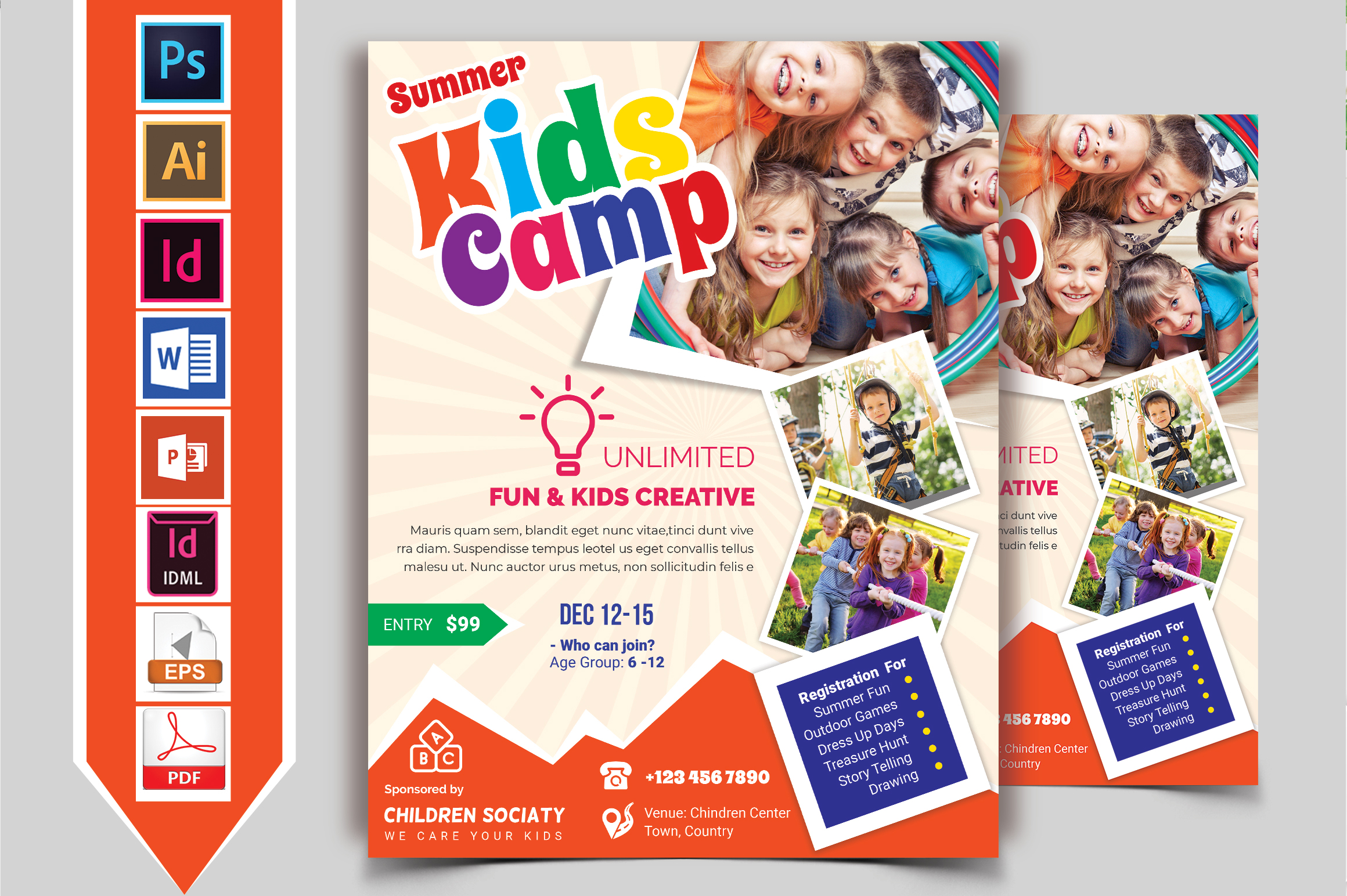 Kids Summer Camp Flyer Vol-08 example image 2