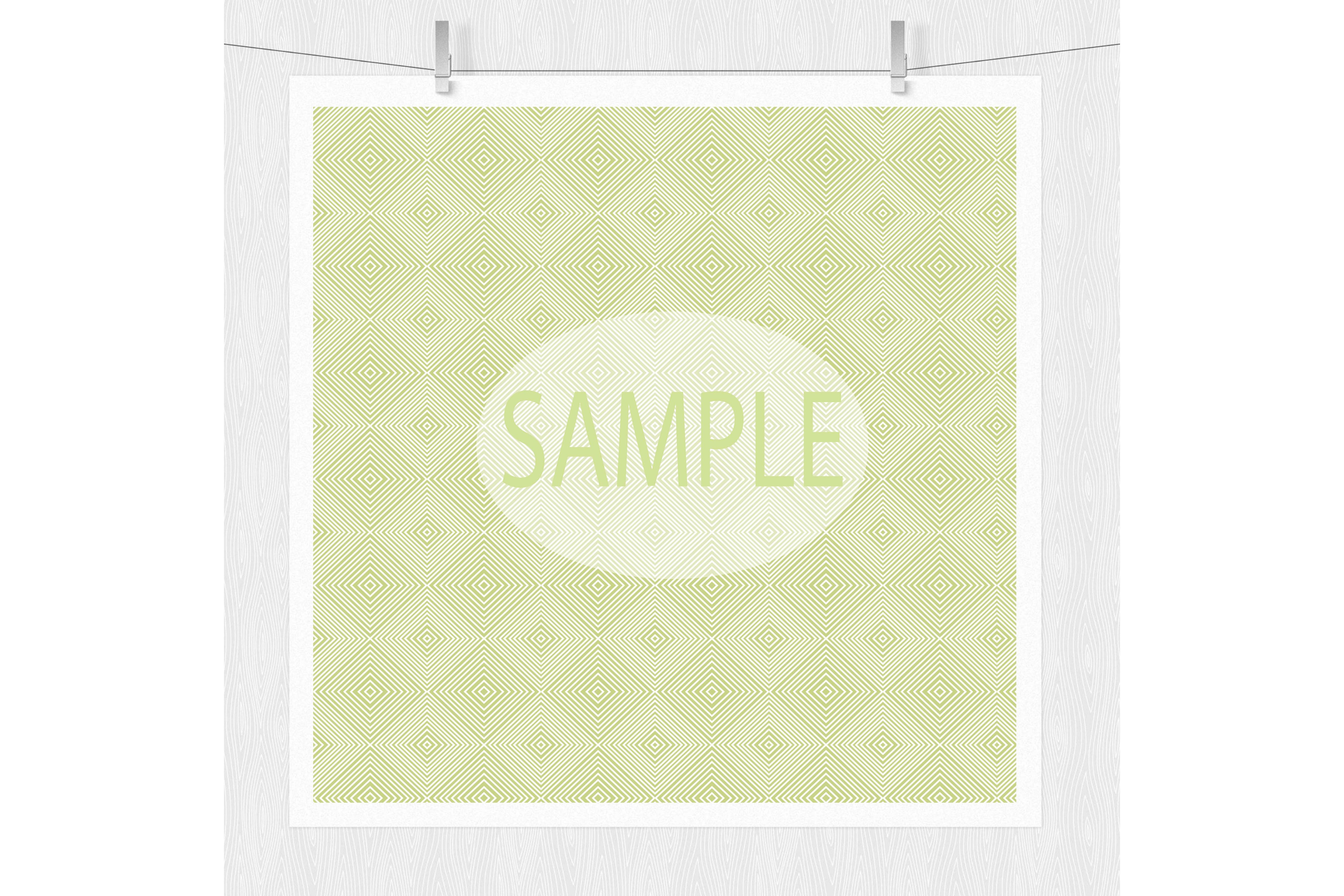 Lime Green Patterned Digital Paper example image 2