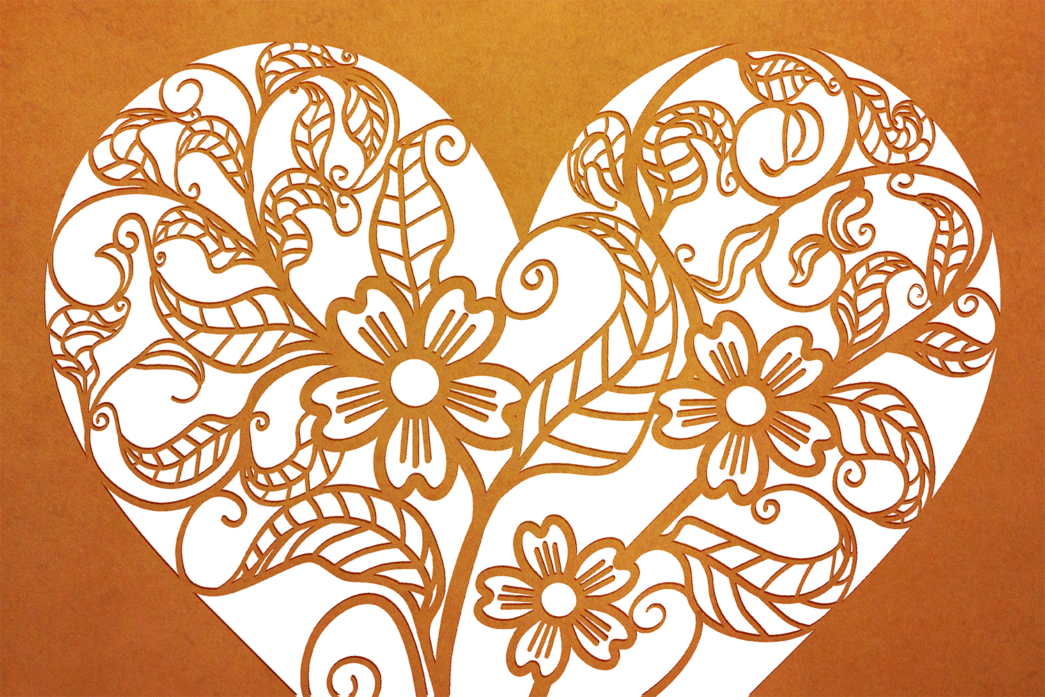 Ten Decorative Heart Cut Out Design 1 example image 4
