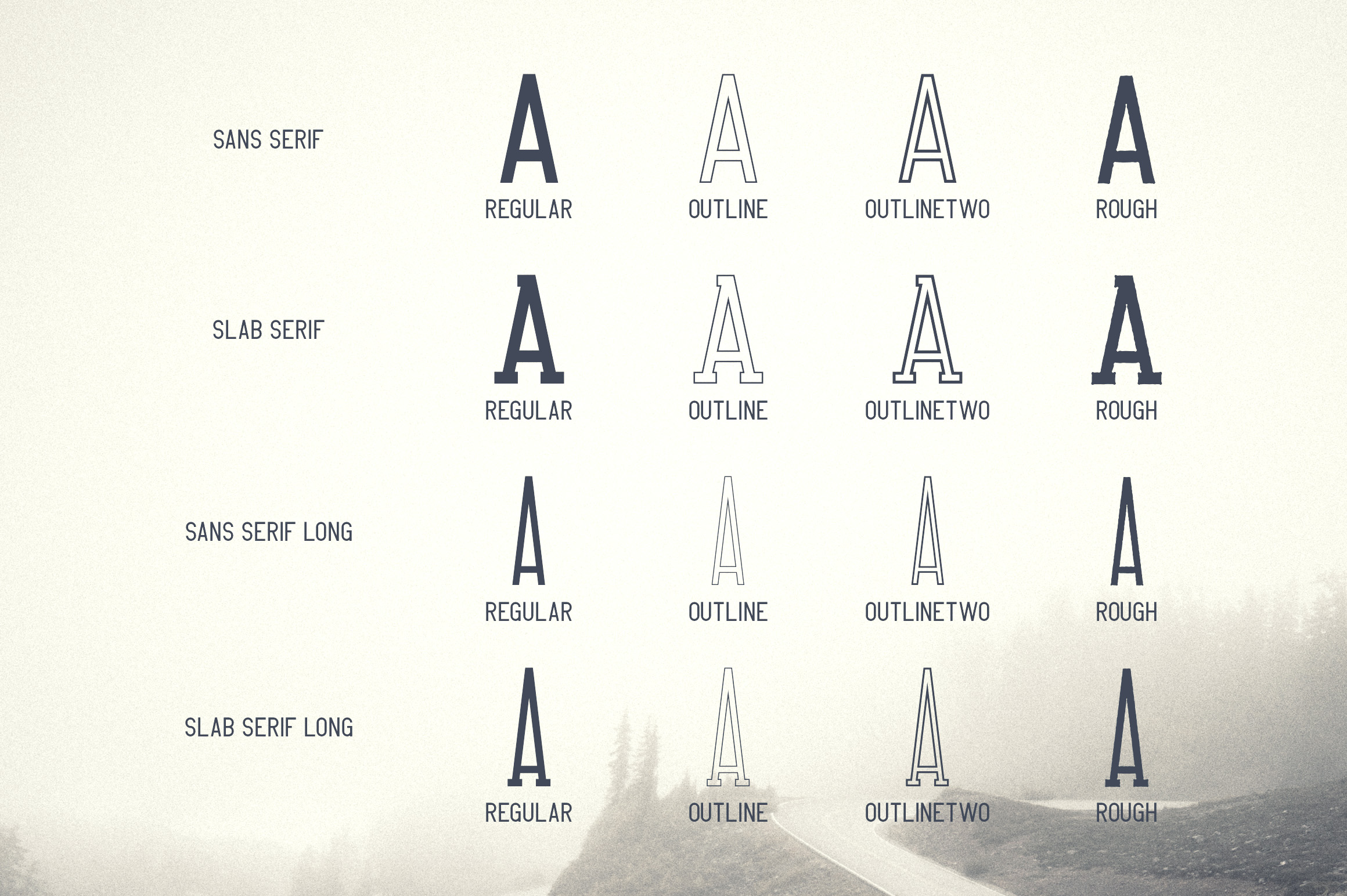 Crossroad -Vintage typeface|16 fonts example image 2