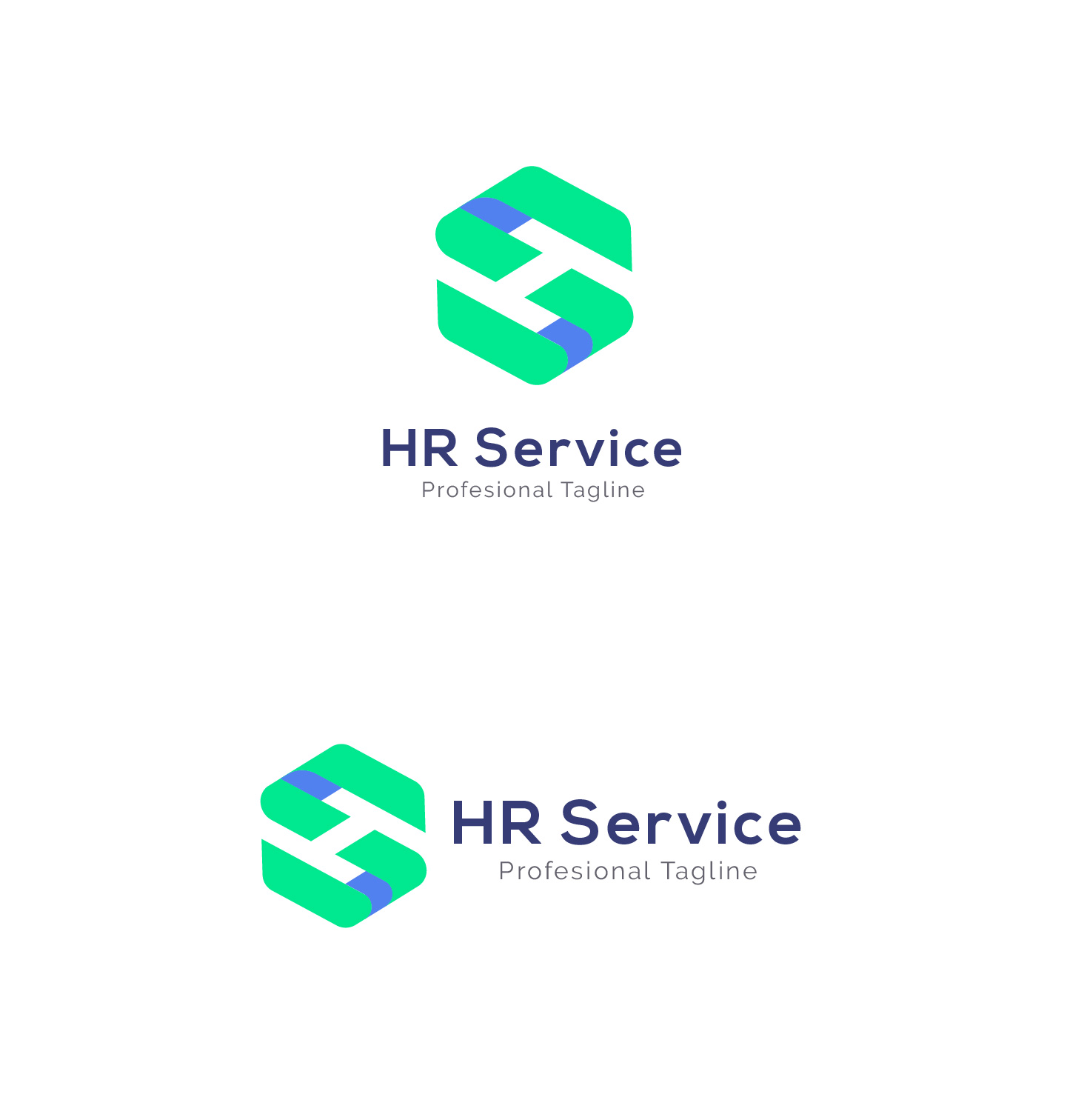 HR Service - H S Letter Logo example image 6