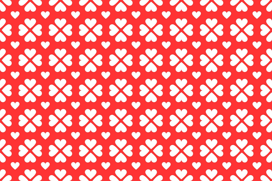 Set of seamless patterns with hearts example image 9