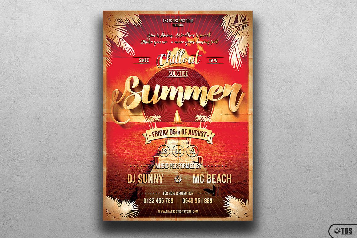 Summer Lounge Flyer Template V1 example image 1