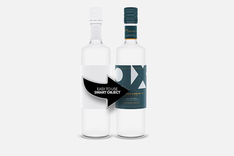Beverage Mockup - Glass - Frosted Bottle - Matte Label - example image 3