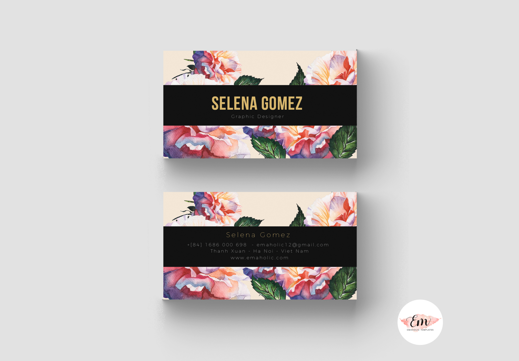 Elegant Business Card Template / Creative Business Card / Modern card example image 2